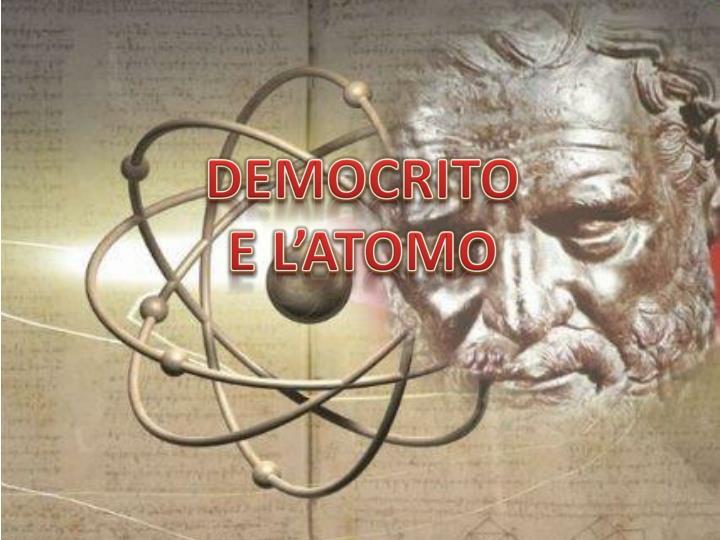 Democrito e l atomo