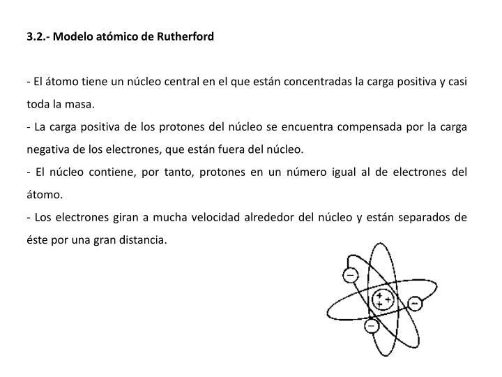 3.2.- Modelo atómico de Rutherford