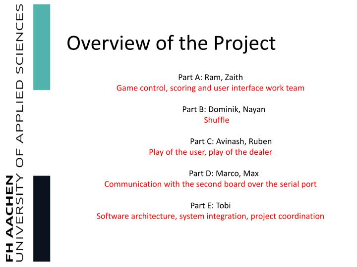 Overview of the project