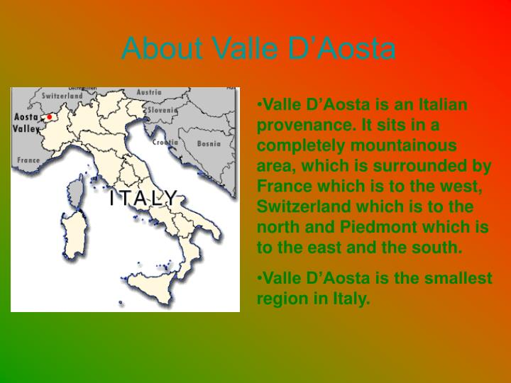 About valle d aosta