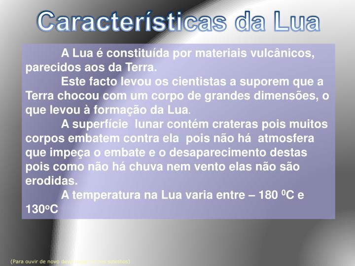 Características da Lua