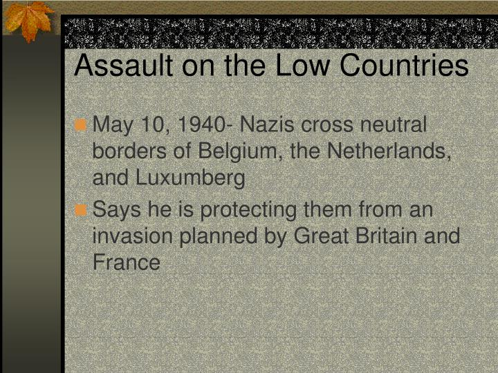 Assault on the Low Countries