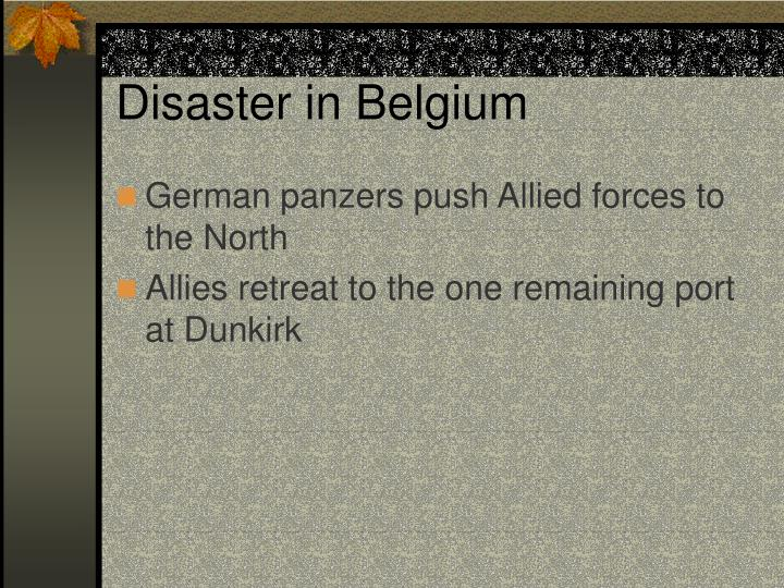 Disaster in Belgium