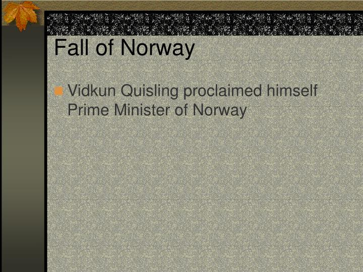 Fall of Norway