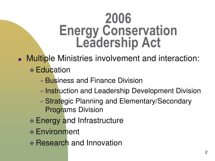 2006 energy conservation leadership act