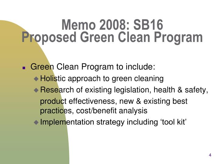 Memo 2008: SB16