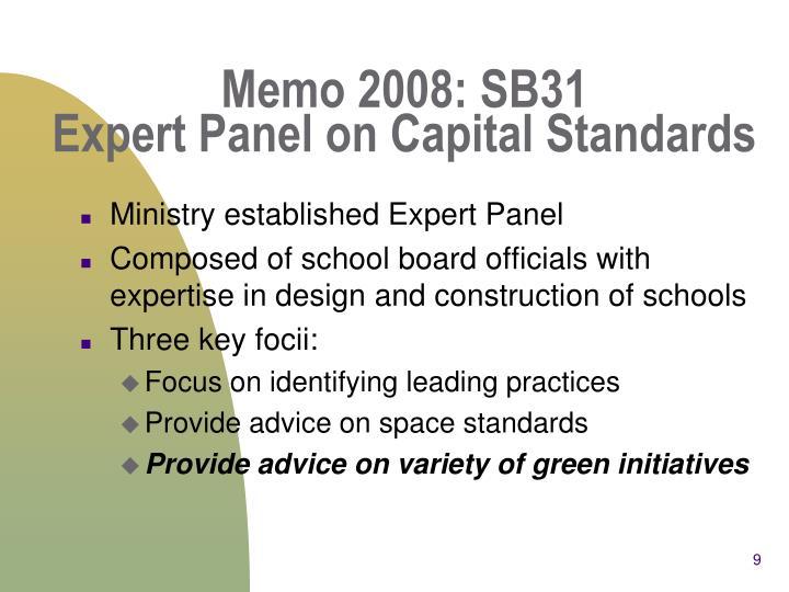 Memo 2008: SB31