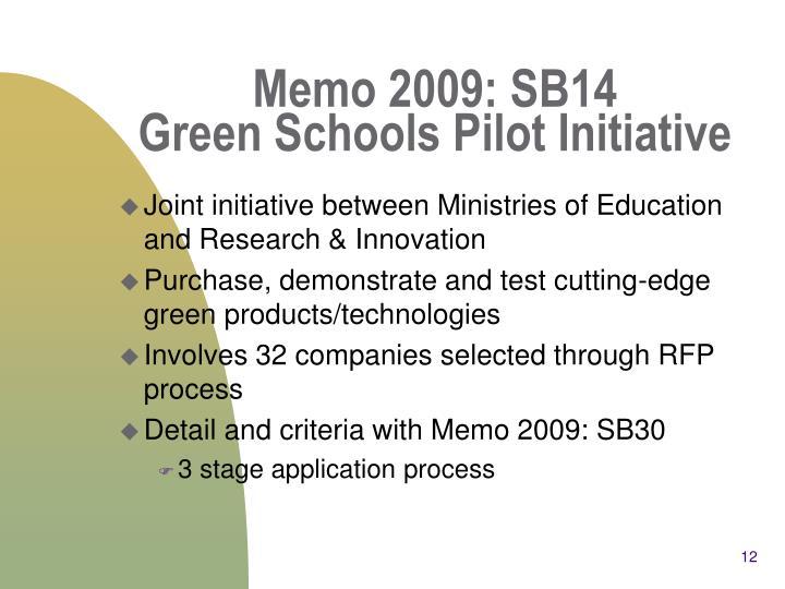 Memo 2009: SB14