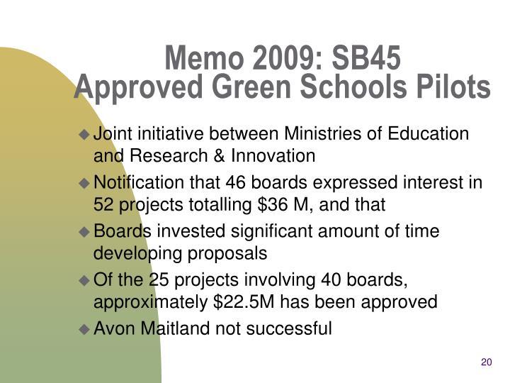 Memo 2009: SB45