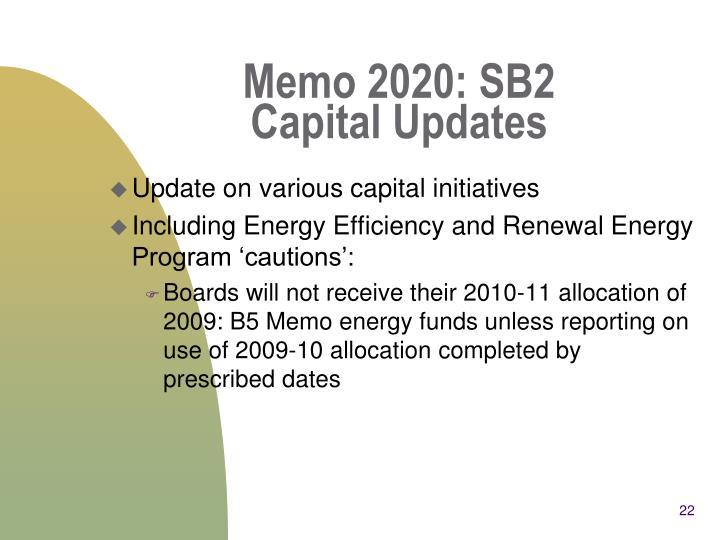 Memo 2020: SB2
