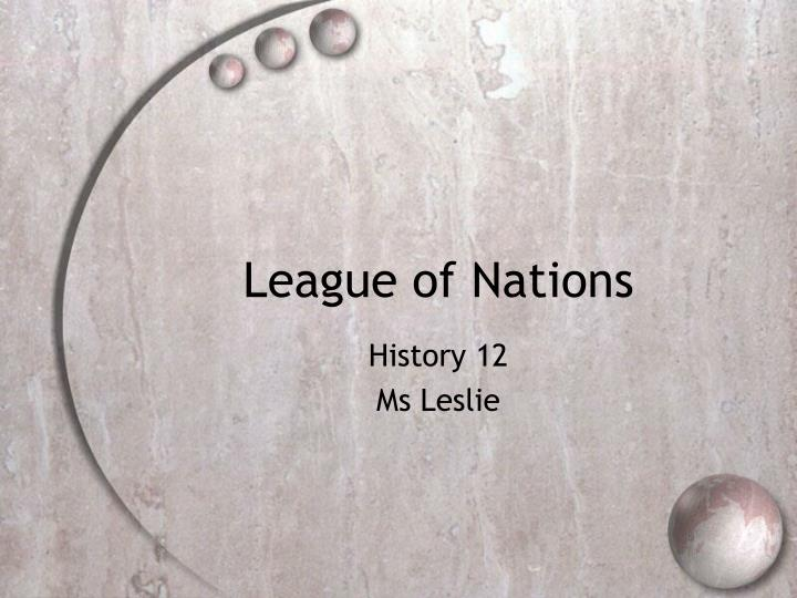 league of nations n.