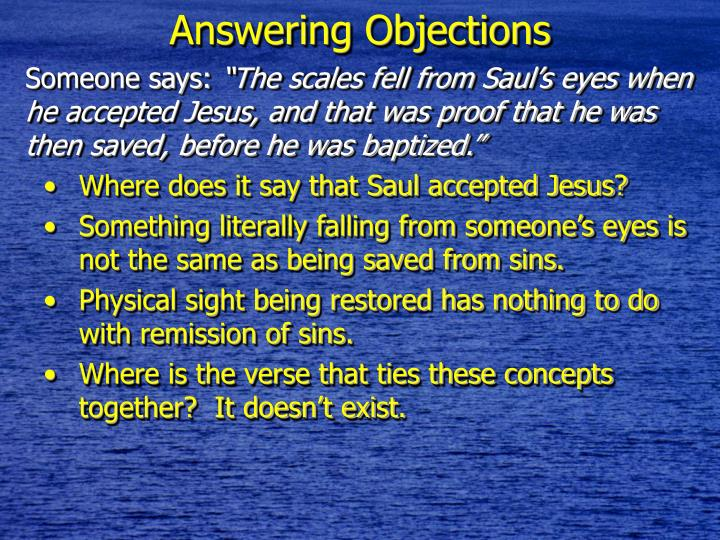 Answering Objections
