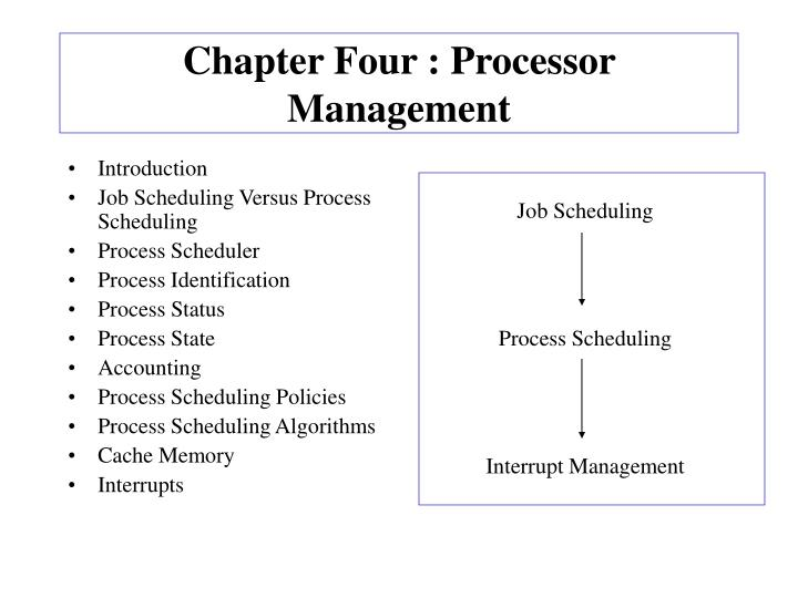 chapter four processor management n.