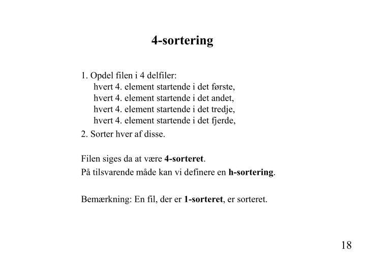 4-sortering
