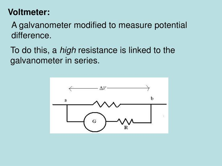 Voltmeter: