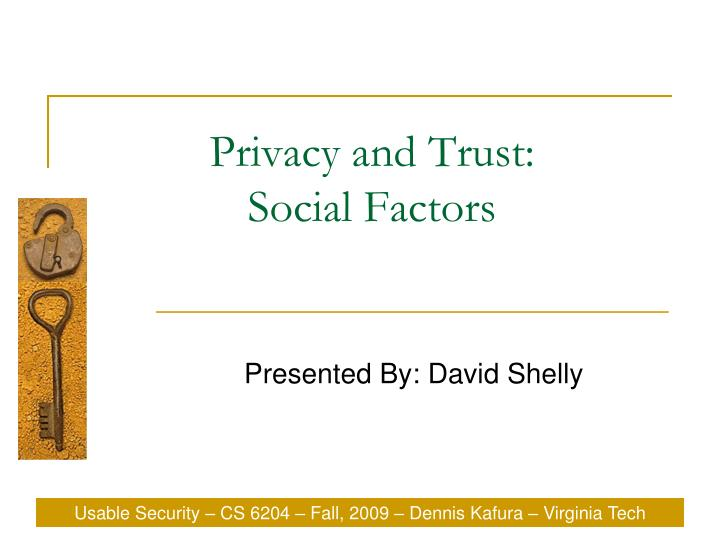 privacy and trust social factors n.
