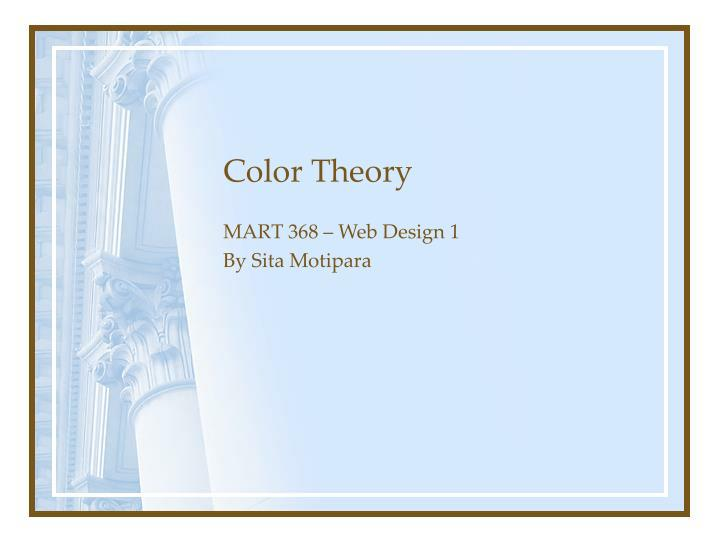 color theory n.