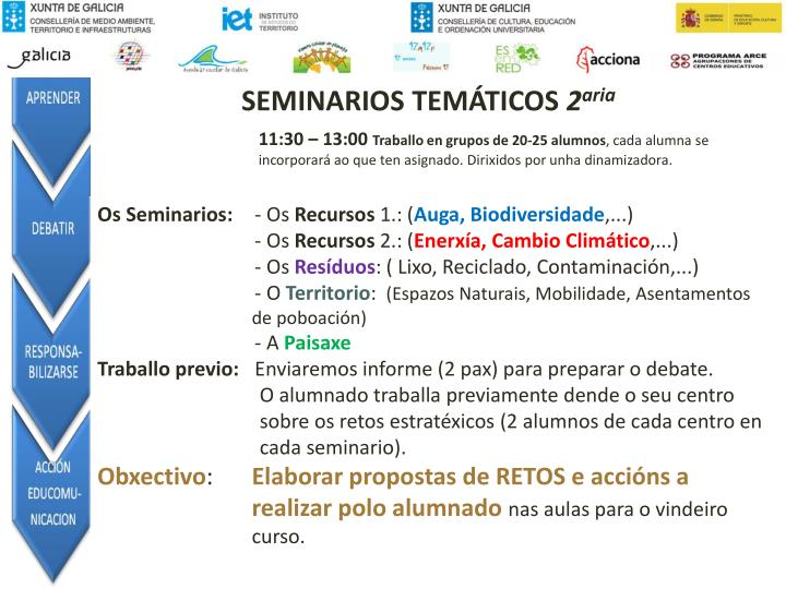 SEMINARIOS TEMÁTICOS