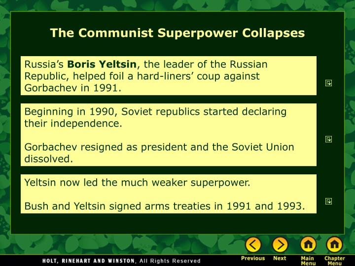 The Communist Superpower Collapses