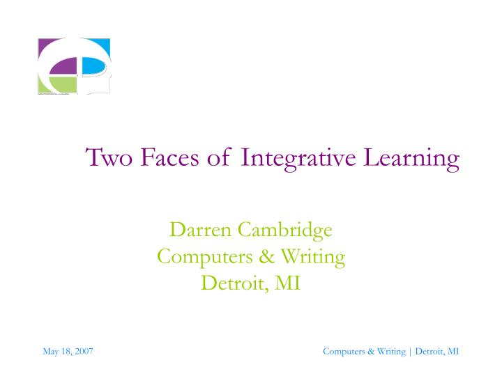 two faces of integrative learning n.