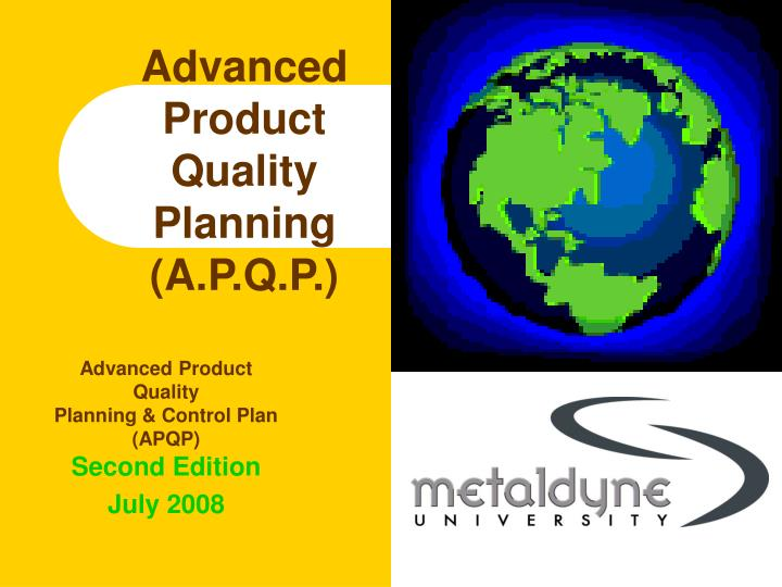 advanced product quality planning a p q p n.