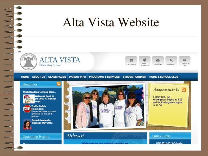 Alta Vista Website