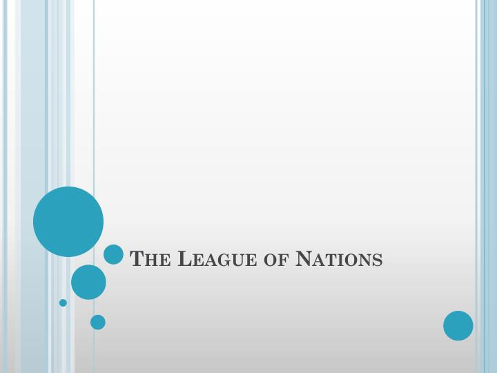 an analysis of the league of nations