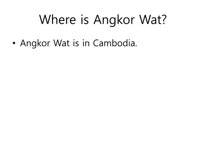 Where is Angkor