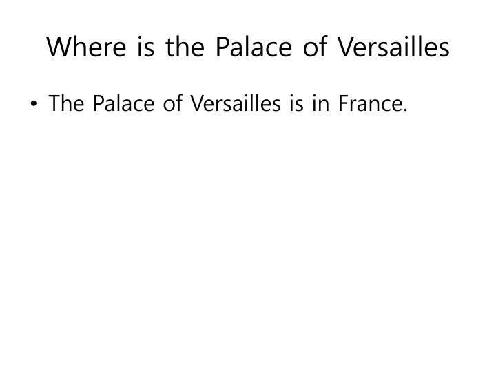 Where is the palace of versailles