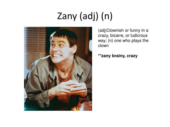 Zany (adj) (n)