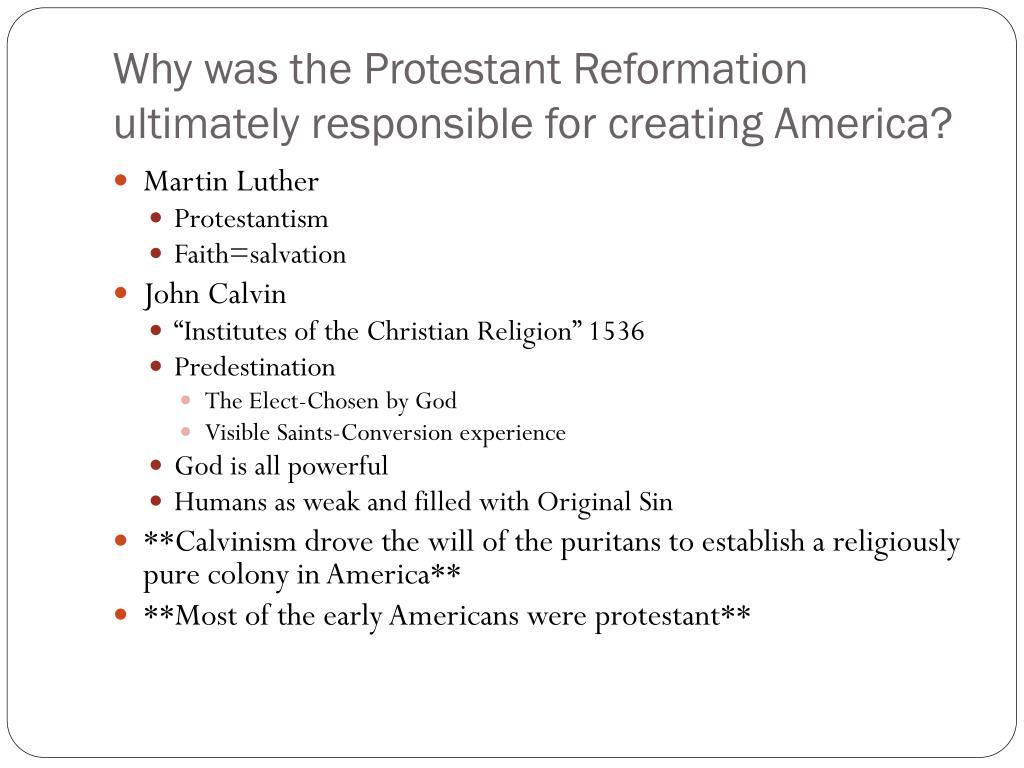 Protestant ethic apush