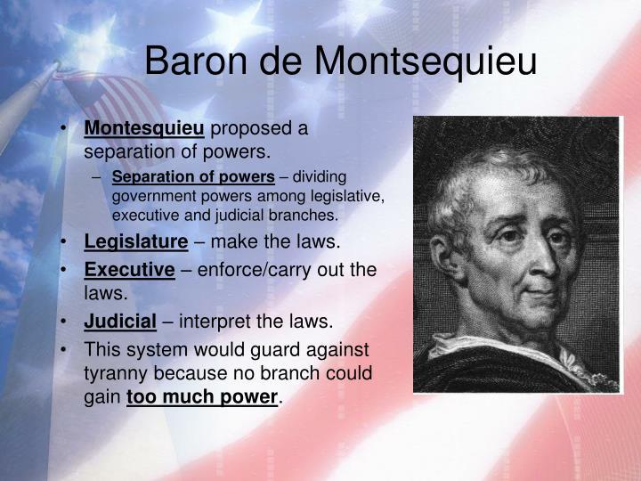 Baron de Montsequieu