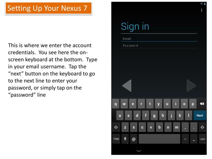 Setting Up Your Nexus 7