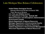 lake michigan mass balance collaborators continued