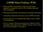 lmmb major findings pcbs