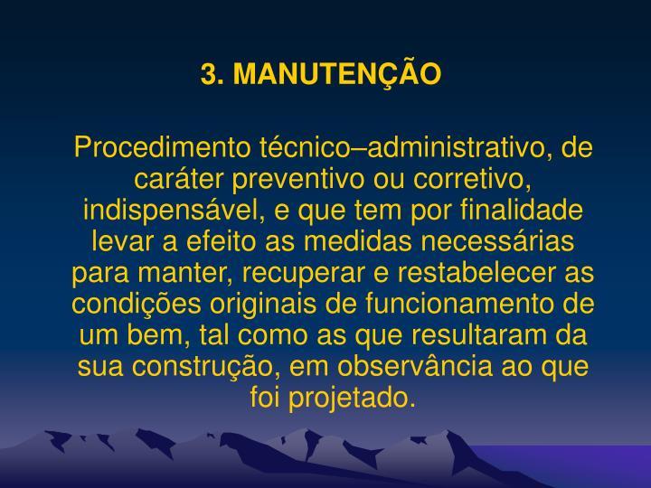3. MANUTENÇÃO