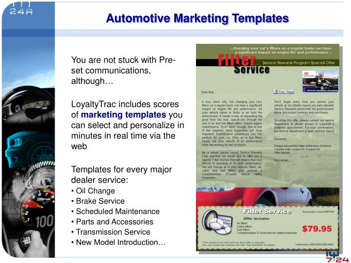 Automotive Marketing Templates