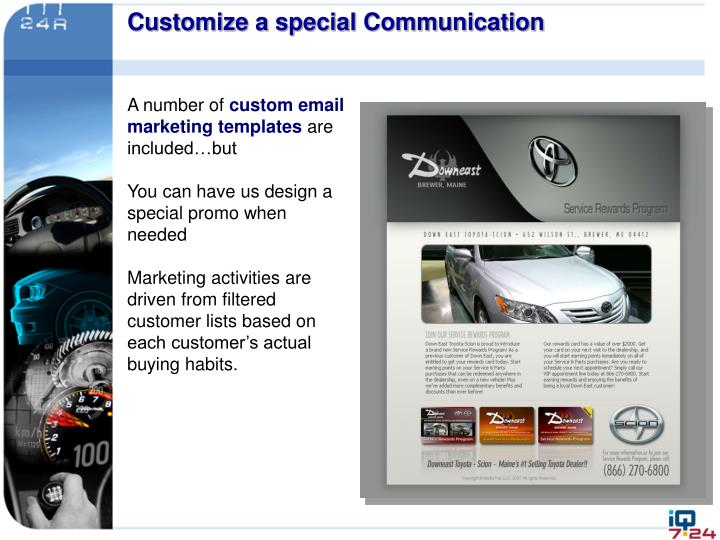 Customize a special Communication