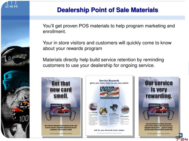 Dealership Point of Sale Materials