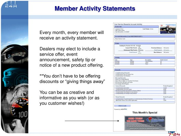 Member Activity Statements