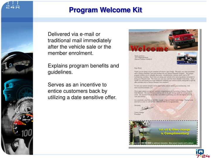 Program Welcome Kit