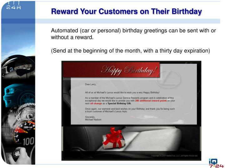 Reward Your Customers on Their Birthday