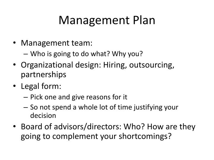 PPT - Management Plan PowerPoint Presentation - ID:5441237