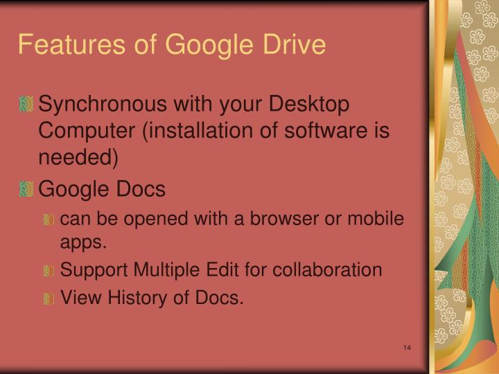 Features of Google Drive