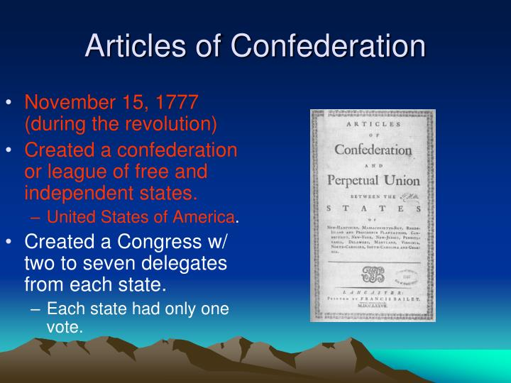 how did the revolutionary era influence the articles of confederation The articles of confederation was the first document that established the us as its own separate entity, an alliance of independent states when the articles were presented to congress, debate arose regarding the amount of power that should be allotted to each state, how voting procedures.