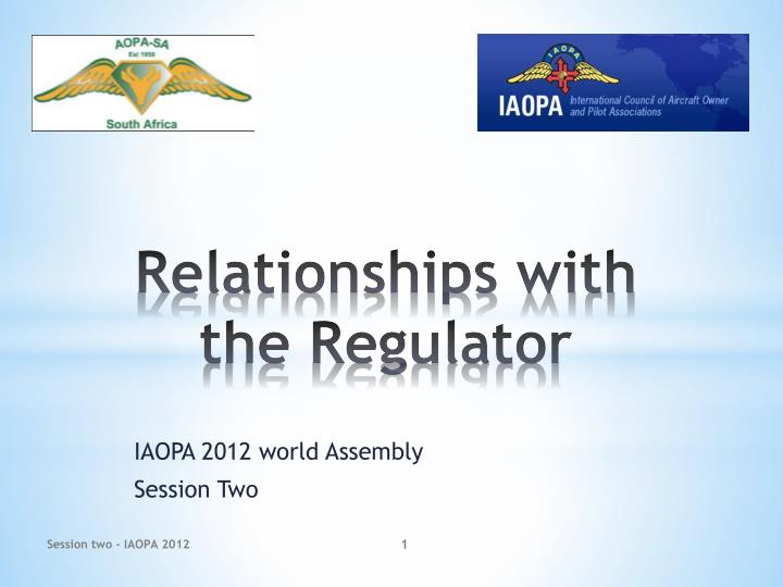 relationships with the regulator n.