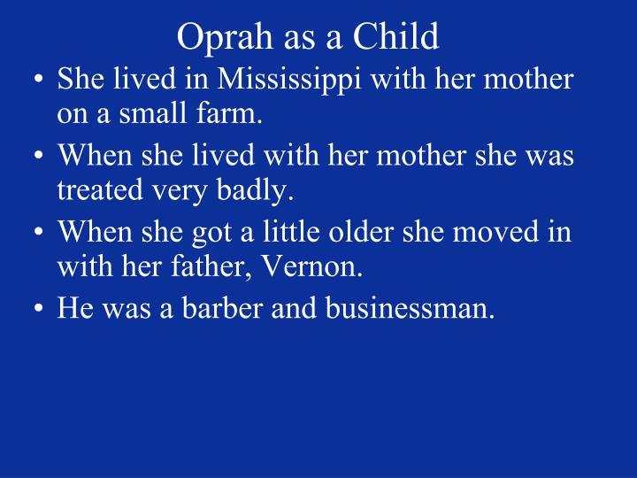 Oprah as a Child