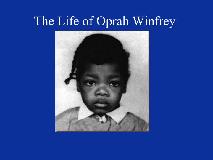 the life of oprah winfrey n.