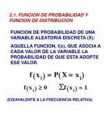 2 1 funcion de probabilidad y funcion de distribucion