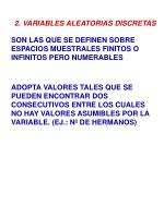 2 variables aleatorias discretas